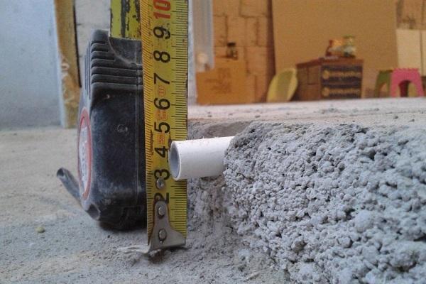 толщина бетона для теплого пола