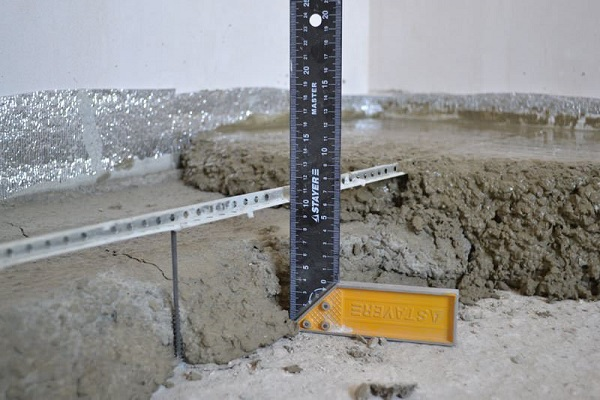 толщина бетона
