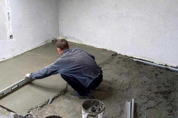 как приготовить бетонную смесь для пола
