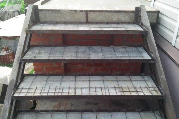 Ступеньки из бетона бетон в барыбино