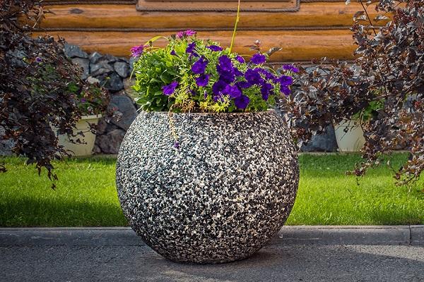 мытый бетон вазон