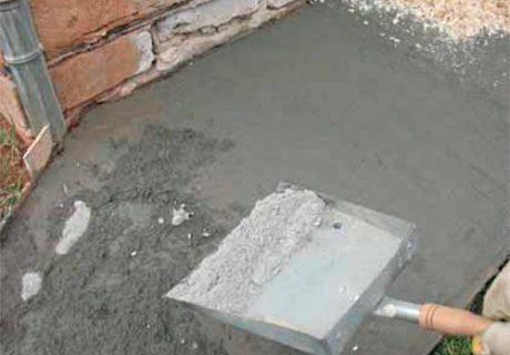 Железнение бетона – особенности технологии