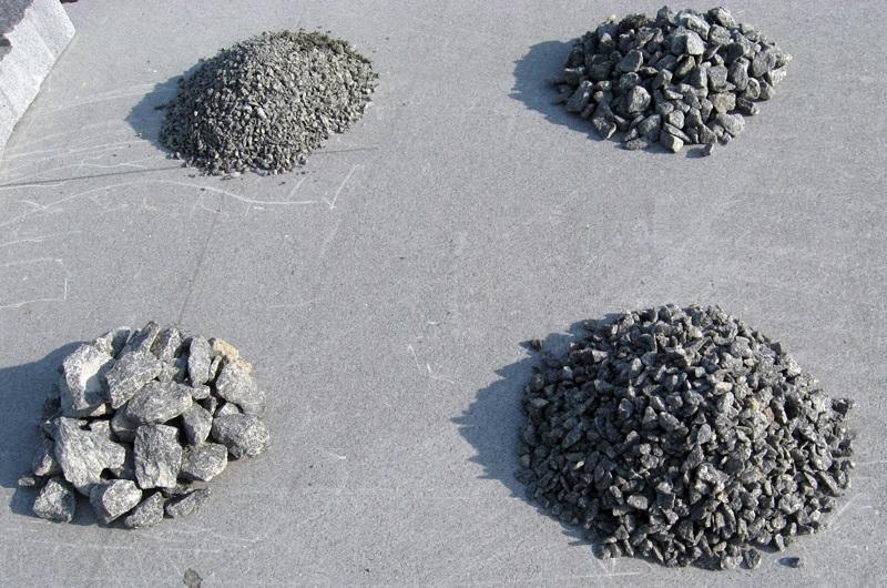 Фракции щебня бетона