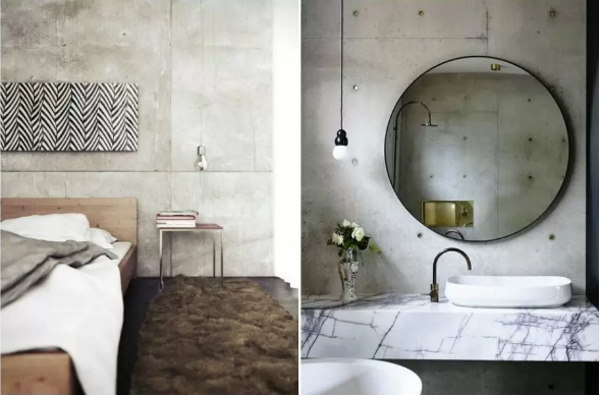 Чтобы сделать имитацию интерьера бетона в комнате можно также использовать обои